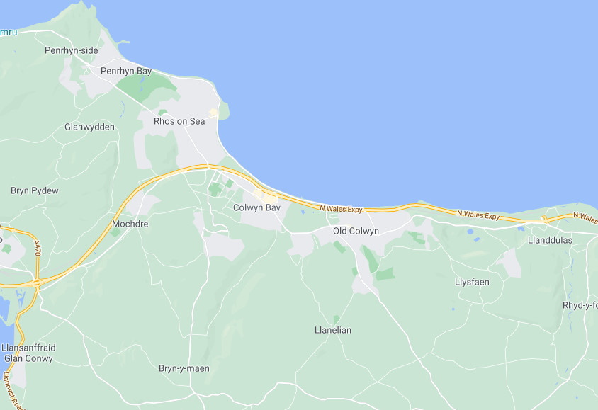 Gele Sweep area of operations around Rhos On Sea, Penrhyn Bay, Mochdre, Glanwyddan.